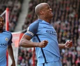 Vincent Kompays remains Manchester City captain this season. AFP