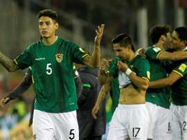 Bolivia have been sanctioned for playing Cabrera (L) when ineligible. AFP