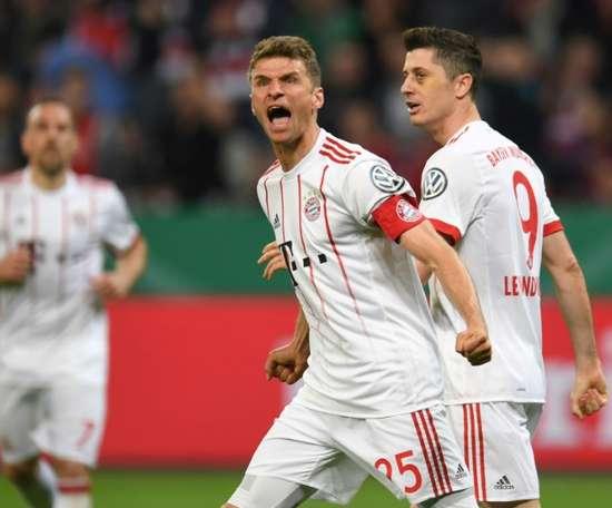 Muller ran the show. AFP