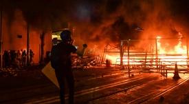 Las protestas se repiten a diario en Hong Kong. AFP