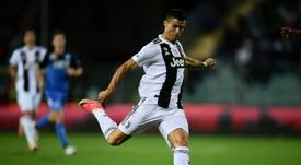 Cristiano aime frapper. AFP