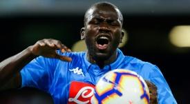 Koulibaly, um zagueiro de 115 milhões para Guardiola. AFP