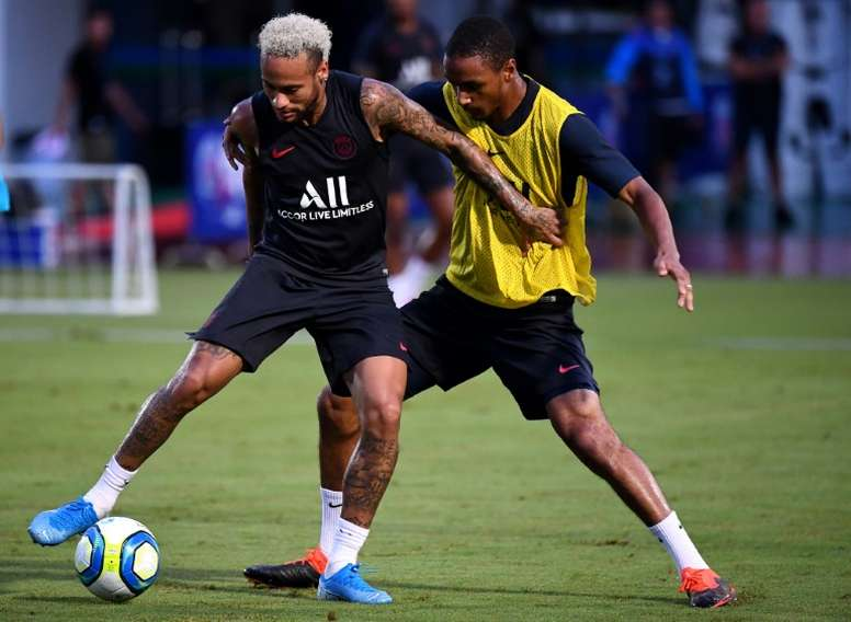 Neymar est à l'entraînement. AFP