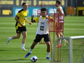 Dortmund renewed Jadon Sancho until 2023. AFP