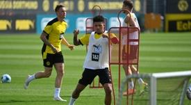 Dortmund renewed Jadon Sancho until 2023. AFP