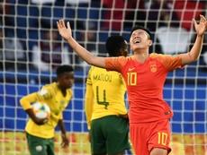 Li Ying scored China's winning goal. AFP