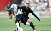 Samir Nurkovic (R) put Kaizer Chiefs ahead, but his team conceded a late leveller. AFP