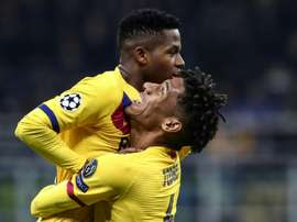 Fati makes history as Barca send Inter crashing out of Champions League. AFP
