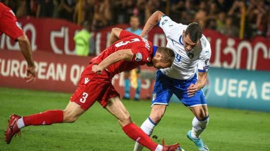 Belotti brace against 10-man Armenia extends Italy's perfect start. AFP
