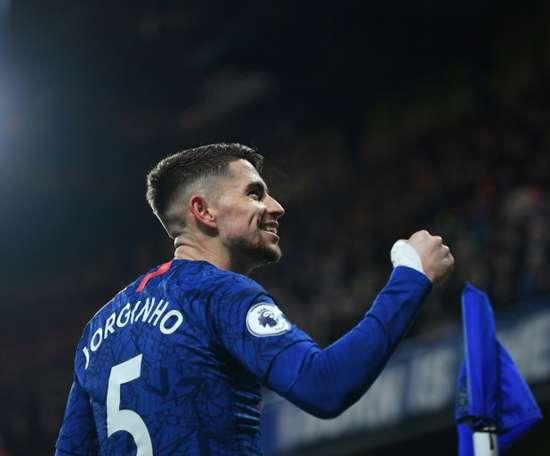 Jorginho has not played for Chelsea since the restart. AFP