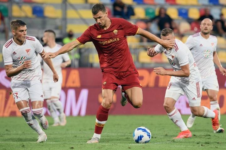 Dzeko ne suffit pas à l'Inter : il veut un autre attaquant. AFP