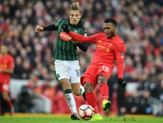 Liverpools Daniel Sturridge (right) in action against Plymouth Argyle. AFP