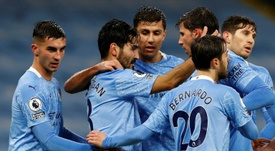 Manchester City's players have returned to training after a coronavirus outbreak at the club. AFP