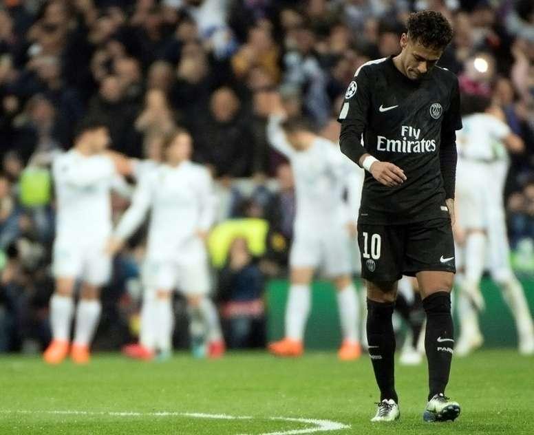 Neymar, un poco más lejos del Madrid. AFP