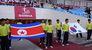 Las selecciones de las dos Coreas estuvieron entre 2005 y 2010 sin enfrentarse. AFP/Archivo