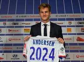 Danish defender Joachim Andersen is Lyon's latest big signing. AFP