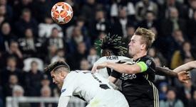 de Ligt is wanted man after his impressive Champions League performances this season. AFP.