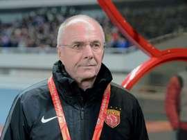 Shanghai SIPGs head coach Sven-Goran Eriksson oversaw a 1-1 draw with Guangzhou Evergrande