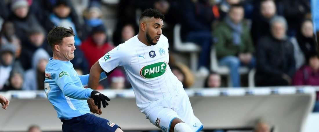 Dimitri Payet (R) scored both in the main game and in the shootout to spare Marseille's blushes. AFP