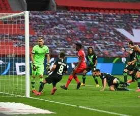 L'entraîneur de Wolfsburg voulait plus de buts contre le Bayer. AFP