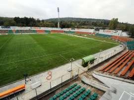 El estadio del Litex Lovech. AFP