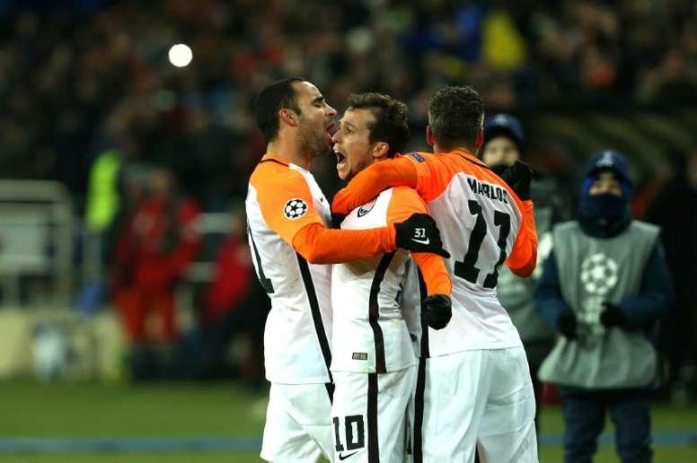 O Shakhtar Donetsk é um dos times que está nas oitavas da Champions. AFP
