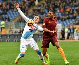 Juan Jesus rêve de changer d'air en Serie A. AFP