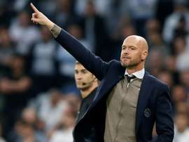 Ten Hag thinks he will be coaching Ajax again next season. AFP