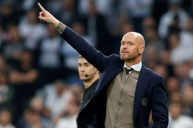 Ten Hag thinks he will be coaching Ajax again next season. AFP