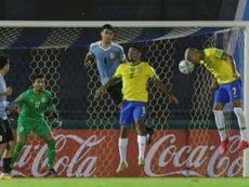 Brazil beat Uruguay as Cavani sent off. AFP