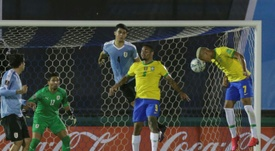 Brazil beat Uruguay as Cavani sent off. AFP