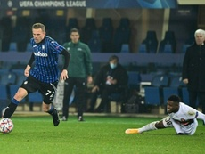 Josip Ilicic (L) scored and got two assists in Atalanta's 1-4 win at Benevento. AFP