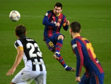 Lionel Messi came to his sides rescue is an uninspiring 1-0 win over Levante. AFP