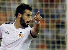 Le joueur espagnol du Valence, Álvaro Negredo, lors d'un match. EFE