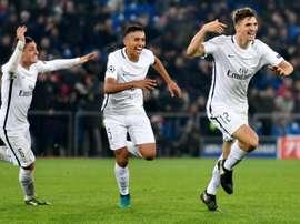 El PSG consiguió una victoria trabajada ante el Basilea. AFP
