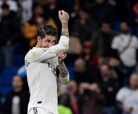 Sergio Ramos, fora da lista contra o Eibar. AFP