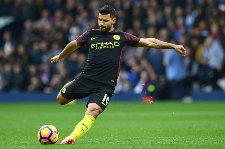 Aguero and Co will face Monaco in the Champions League last 16. AFP