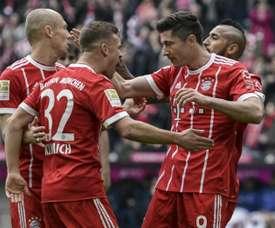 Lewandowski plundered a hat-trick against Hamburg. AFP