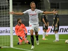 Luuk De Jong starts for Sevilla versus Inter. AFP