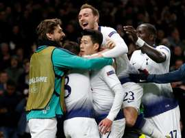 Son hailed his team's fighting spirit in victory over City. AFP