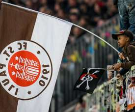 St Pauli fans were met with an unusual welcome. AFP