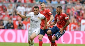 Corentin Tolisso tore his ACL as Bayern beat Bayer Leverkusen 3-1 on Saturday. AFP