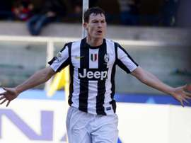 Juventus defender Stephan Lichsteiner, pictured on February 3, 2013, could be facing a six-month spell on the sidelines for the Italian champions, according to a leading heart specialist