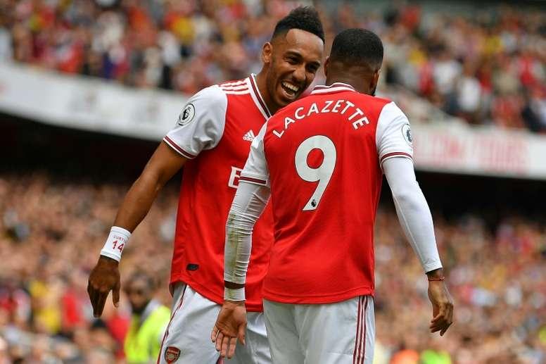 Arsenal pourrait vendre Aubameyang cet été. AFP