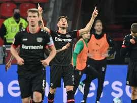 Lucas Alario é destaque do Bayer Leverkusen. AFP