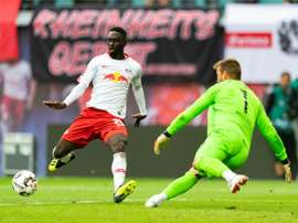 Augustin has scored in both of RB Leipzig's league games this season. AFP