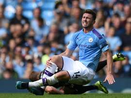Laporte's France debut may have to wait after getting injured v Brighton. AFP