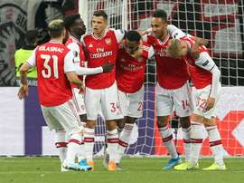 Joe Willock and Bukayo Saka claimed goals as a rotated Gunners side romped to a 3-0 win. AFP