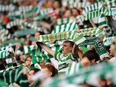 Dembele grabbed a brace as Celtic prepare for their Champions League tie against Man City. AFP