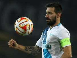 Portuguese midfielder Danny, pictured on March 19, 2015, came off the bench to score as Russian champions Zenit St Petersburg stayed top with a 1-0 win at Ufa